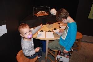 Nathan and Elaina designing their own superior skeletal robot of the future.