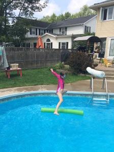 Pool jumping!