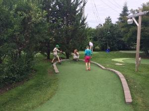 Mini golf fun.